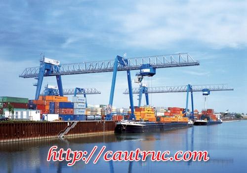 Dùng bốc xếp hàng hoá tại cảng biển, cảng sông, bốc xếp contener Cầu trục cảng 1 tấn, 2 tấn, 3 tấn...
