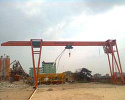 Cổng trục dầm đơn là thiết bị để nâng hạ tải trọng với ray chạy dưới đất - Cổng trục dầm đơn 1 tấn, 2 tấn, 3 tấn, 5 tấn, 7.5 tấn...